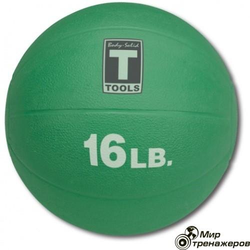 Медицинский мяч 16LB 7.3KG GREEN.